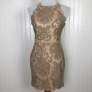 XENIA Boutique Nude Low Back Dress NWT